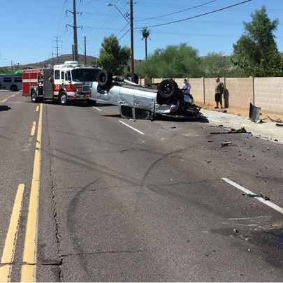 4 people injured in south Phoenix crash on  August