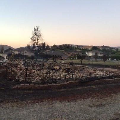 Wenatchee wildfire damage