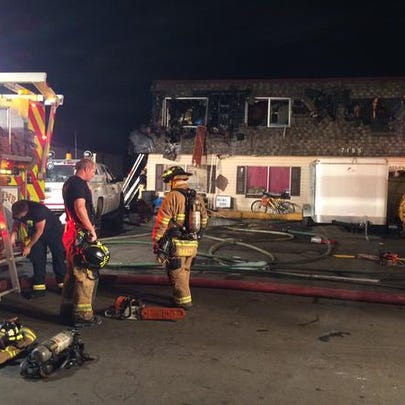 Firefighters battled a blaze late Tuesday night in