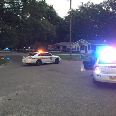 Police on the scene of a shooting on Garfield Street