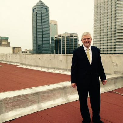 Chief Judge Mark Mahon on the roof of the Duval County