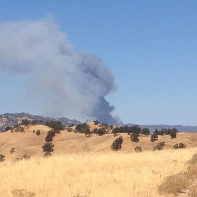 This photo appears to show a new plume of black smoke
