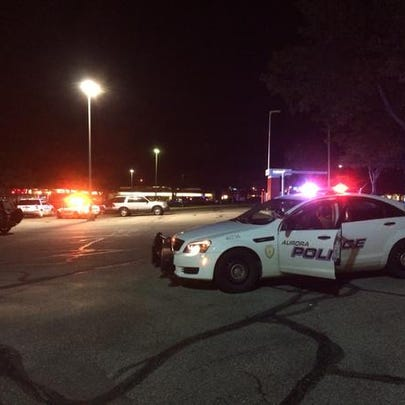 Police investigating a shooting in Aurora.