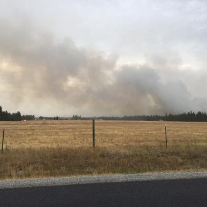 Brush fire near silverwood