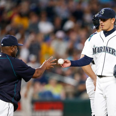 Jul 28, 2015; Seattle, WA, USA; Seattle Mariners manager