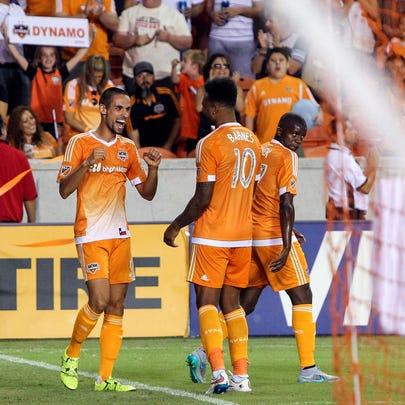 Aug 29, 2015; Houston, TX, USA; Houston Dynamo defender