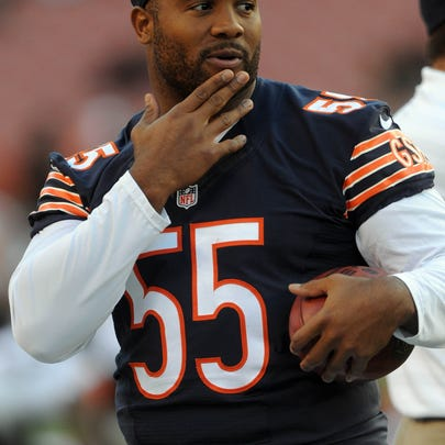 Chicago Bears outside linebacker Lance Briggs (55)