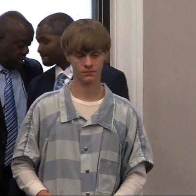Dylann Roof appears in court on July 16, 2015.