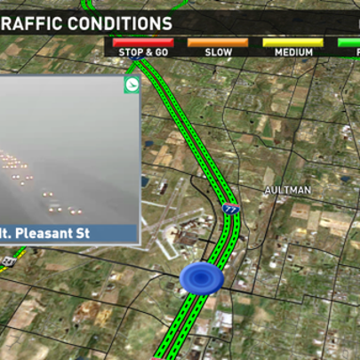 Heavy fog reported on I-77 near the Akron Canton Airport.