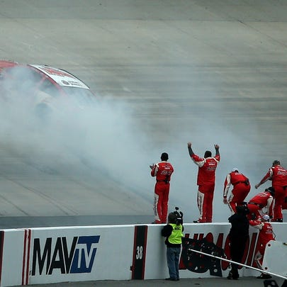 during the NASCAR Sprint Cup Series AAA 400 at Dover