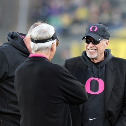 Oct 19, 2013; Eugene, OR, USA; Nike founder Phil Knight