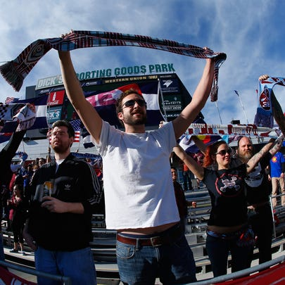 at Dick's Sporting Goods Park on April 4, 2015 in Commerce