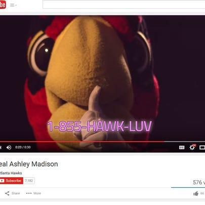 "The Atlanta Hawks ""Ashley Madison"" campaign features"