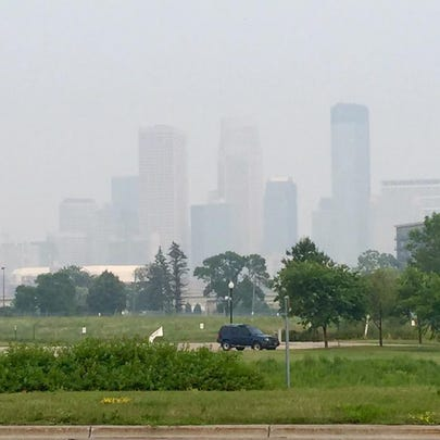 Minneapolis is enveloped in a smoky haze from the fires