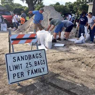 Hillsborough County residents are packing sandbags
