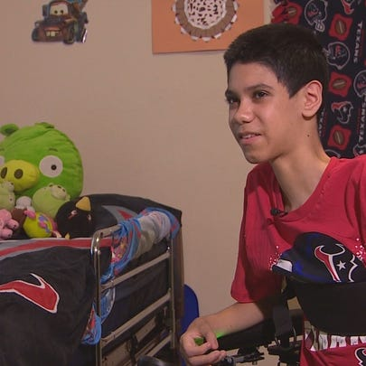 A teen with muscular dystrophy is drawing inspiration