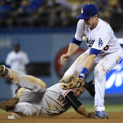 Aug 31, 2015; Los Angeles, CA, USA; San Francisco Giants