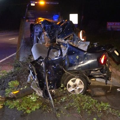 Troopers say a young man was killed in a violent crash