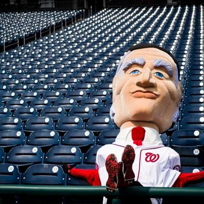 Calvin Coolidge, the new Nats racing presidents mascot