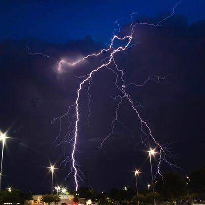 Lightning threat Friday Evening