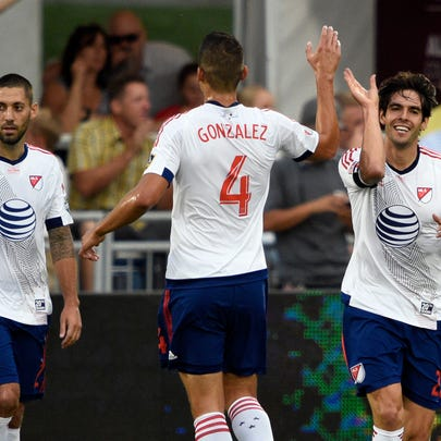 Jul 29, 2015; Denver, CO, USA; MLS All Star midfielder