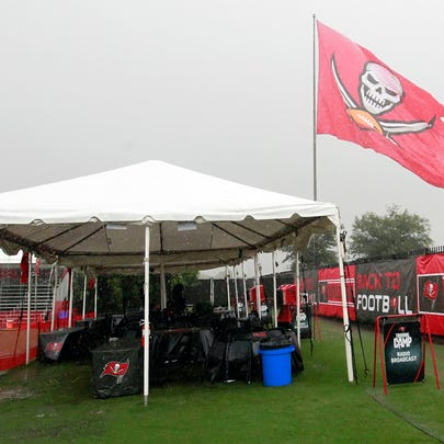 The Buccaneers training camp was nearly washed out