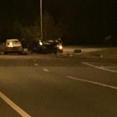 About 6:30 p.m., an SUV carrying several people was