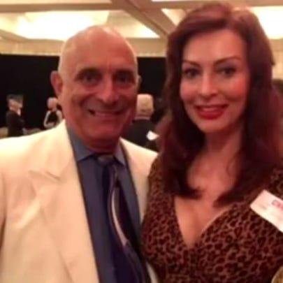 Former CNN journalists Chuck de Caro and Lynne Russell.