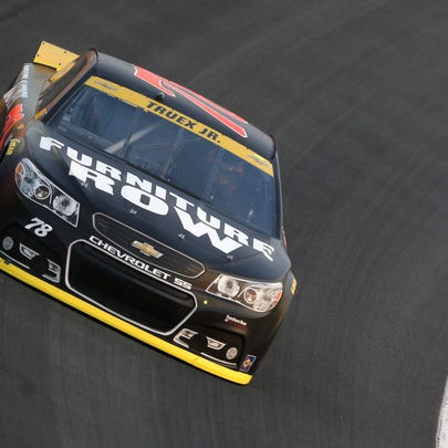 during practice for the NASCAR Sprint Cup Series Bank