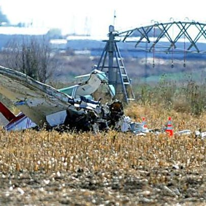 Two people died in a plane crash in Weld County Tuesday