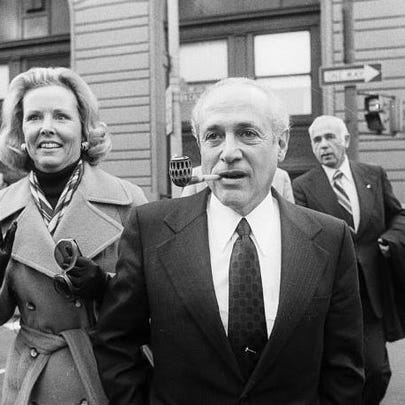 Gov. Marvin Mandel, accompanied by his wife, Jeanne,