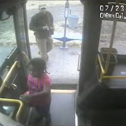 A five-year-old girl boards the Line 71 at 6:01 a.m.
