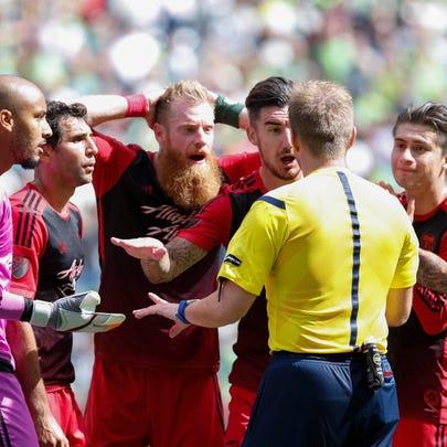 Aug 30, 2015; Seattle, WA, USA; Portland Timbers goalkeeper