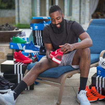 Adidas delivered James Harden a truckload of shoes