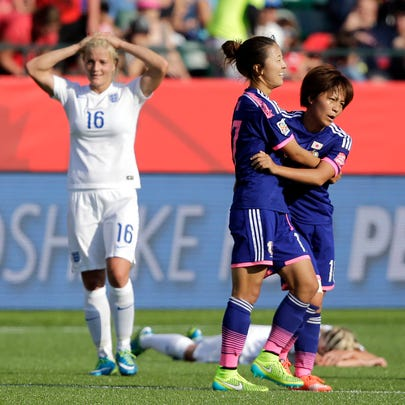 Jul 1, 2015; Edmonton, Alberta, CAN; Japan forward