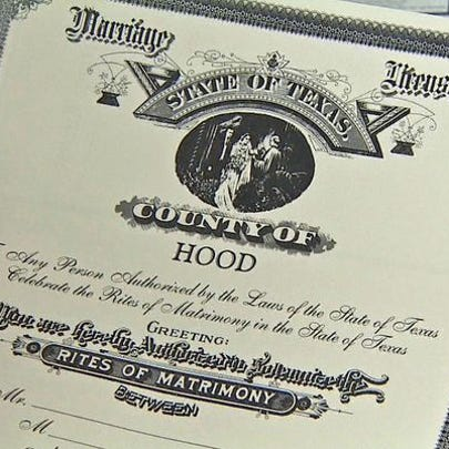 A North Texas county will issue marriage licenses to