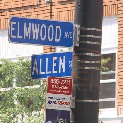 Intersection of Elmwood and Allen Street