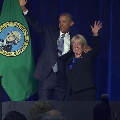 President Obama stopped in Seattle Friday for two fundraisers
