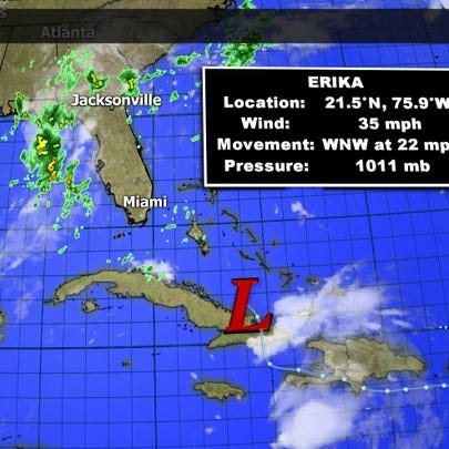 Even though Erika is a remnant, it is still a rain