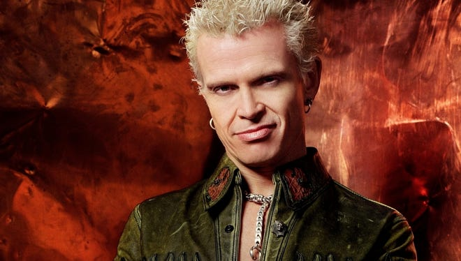 Billy Idol performs Tuesday at the Iroquois Amphitheater.