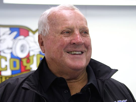 Racing legend A.J. Foyt smiles during a recent 2017