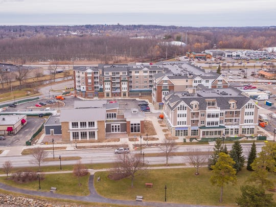 A drone view of Canandaigua's Pinnacle North project