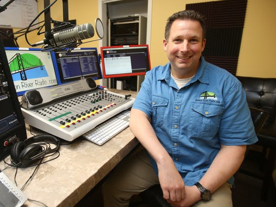 Brian Horowitz, co-owner of Hudson River Radio is photographed