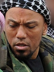 An FBI translator based in Detroit was convicted of sneaking into Syria to marry Denis Cuspert, a German rapper and Islamic State sympathizer who recruits jihadists on the Internet. The facial features of others in this file photo were blocked out because they have not been implicated in any terrorist activities.