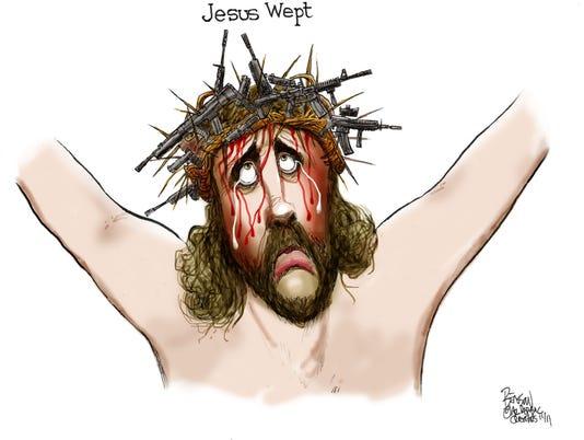 Jesus wept over Texas church shooting