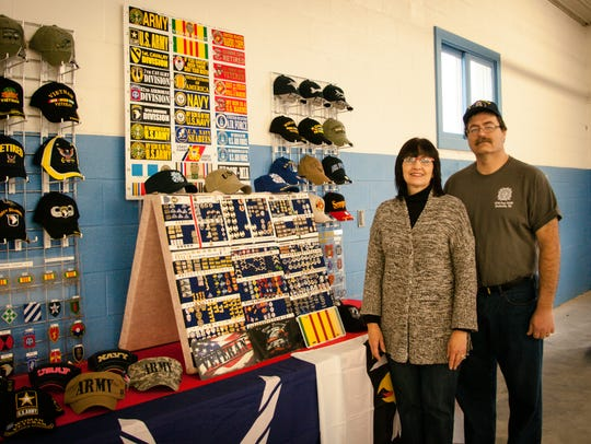 Robin and Russell Wolfe, owners of R&R Veterans Hub,