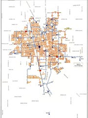 Map of the Tulare water system.