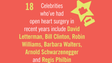 Celebrities who've had open heart surgery in recent years include David Letterman, Bill Clinton, Robin Williams, Barbara Walters, Arnold Schwarzenegger and Regis Philbin.