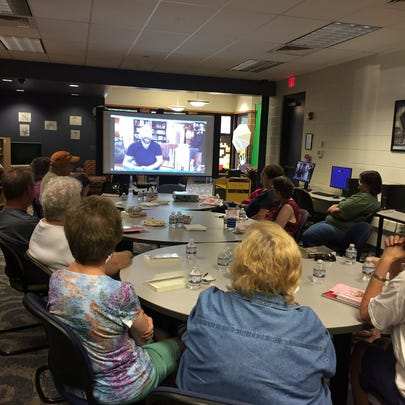 Members of Vineland Public Library's Cozy Mystery Book