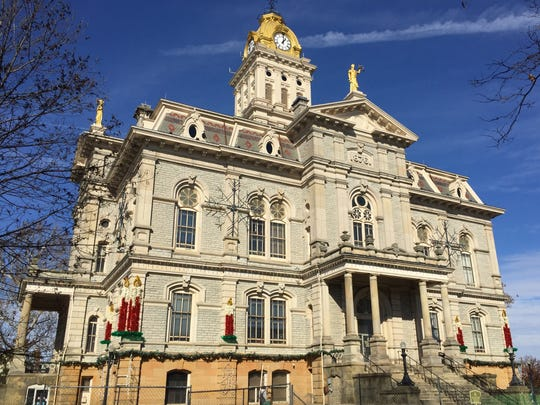 The south side of the Licking County Courthouse, on Nov. 17.